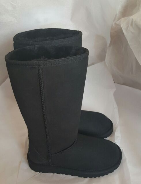5c2c92be231 UGG Australia Kids Classic Tall 5229 Black Sheepskin 100 Authentic 1