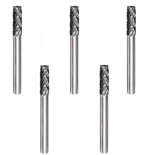 5x VHM Fräser 3x16mm Frässtift Raspel Gravur für Dremel Proxxon Zubehör D81