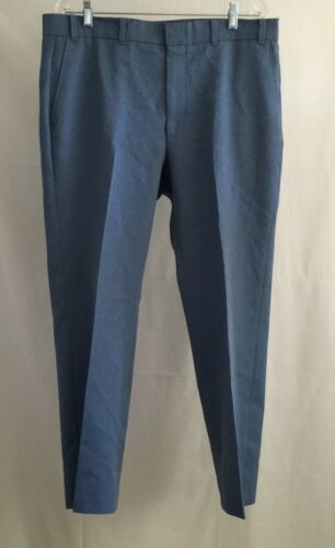Vintage 70's LEVI'S ACTION SLACKS Men's Blue Polyester Disco Pants 37x29 USA