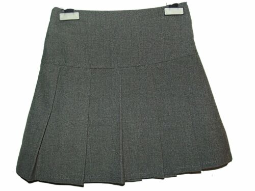 EX STORE BLACK PLEATED DROP WAIST SCHOOL SKIRT GIRLS VARIATE AGE