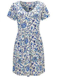 Joe-Browns-ladies-blouse-tunic-top-plus-size-22-28-30-blue-039-delightful-039-floral