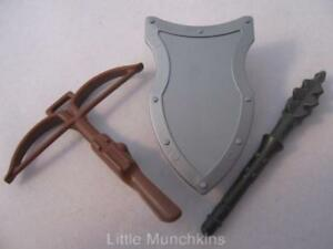 Details about Playmobil Viking/Barbarian/Castle knight weapons: Crossbow,  shield & mace NEW