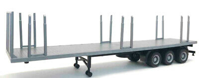 GRAY FLATBED TRAILER REMOVABLE STAKES PROMOTEX 1//87 Truck Accessory HO 5456