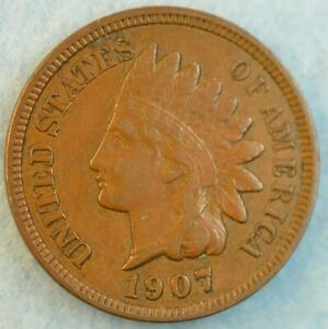 1907-Indian-Head-Cent-Penny-Very-Nice-Old-Coin-Fast-S-amp-H-424