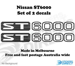 Details about Nissan GU LS Patrol ST6000 Sticker Set of 2 Outdoor Quality  Decals 370mm 4WD