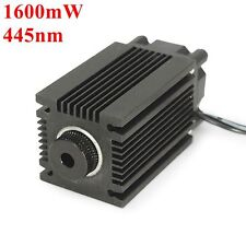 445nm 1.6W 1600mW Blue Laser Module With Heatsink For DIY Laser Cutter Engraver