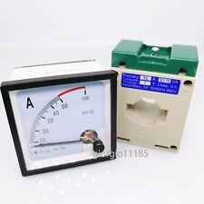 Us Stock Ac 0 50a Analog Amp Current Panel Meter Ammeter Amp Current Transformer