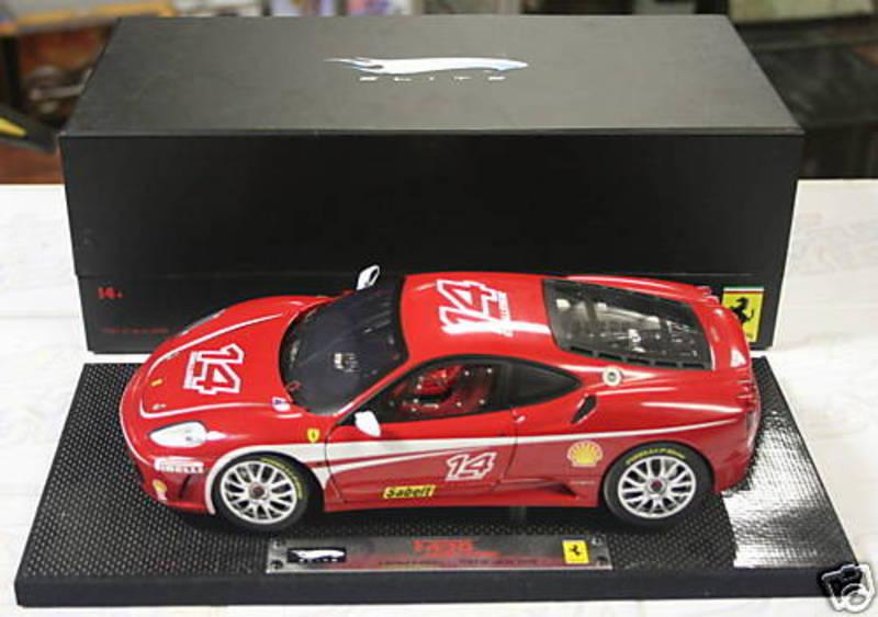 nuevo sádico Ferrari F430 Challenge Race Coche    14 1 18 Hot Wheels súper Elite Edition Sellado  precios bajos todos los dias