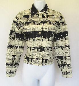 vintage 1960s 70s mod doncaster novelty jacket cotton