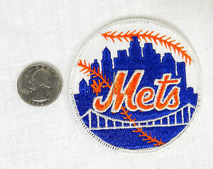 1970's NEW YORK METS BASEBALL PATCH SEW- ON IRON ON