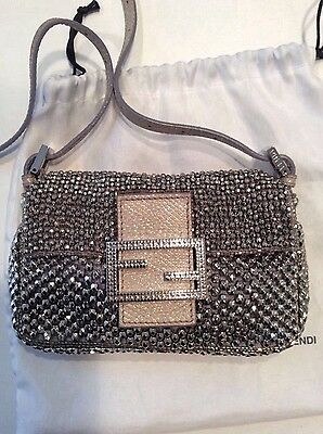 FENDI Beaded Baguette Shoulder Bag Crossbody $2950