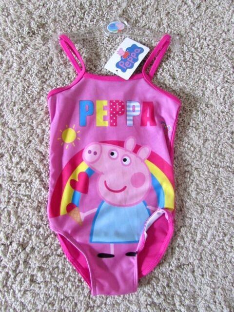 PEPPA PIG WUTZ Kinder Badeanzug RAINBOW Gr. 92-122 Bikini pink Mädchen NEU