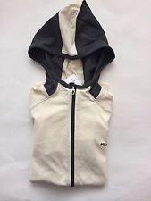 NWT Women's Ralph Lauren Active LS 100%Cotton Hoodie Jacket White Black - Medium