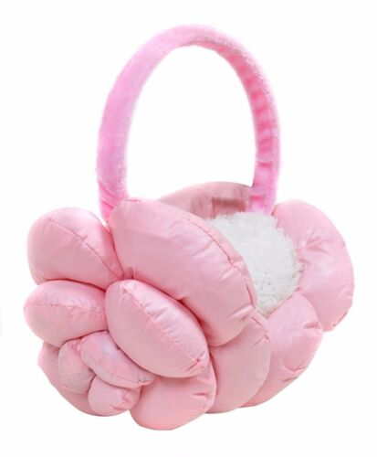 Girls/' Polyester Flower Floral Design Fleece Ear Warmers Muffs Winter EM1020