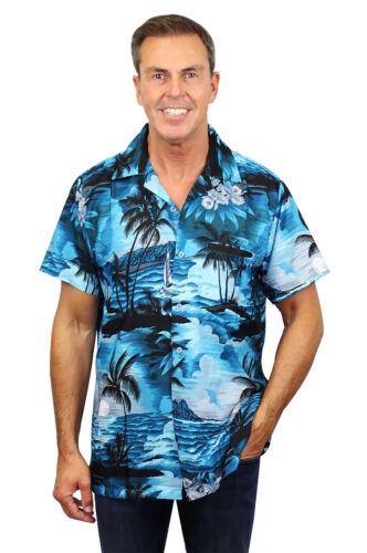 Funky Hawaiian Shirt Surf Dark Turquoise Different Sizes