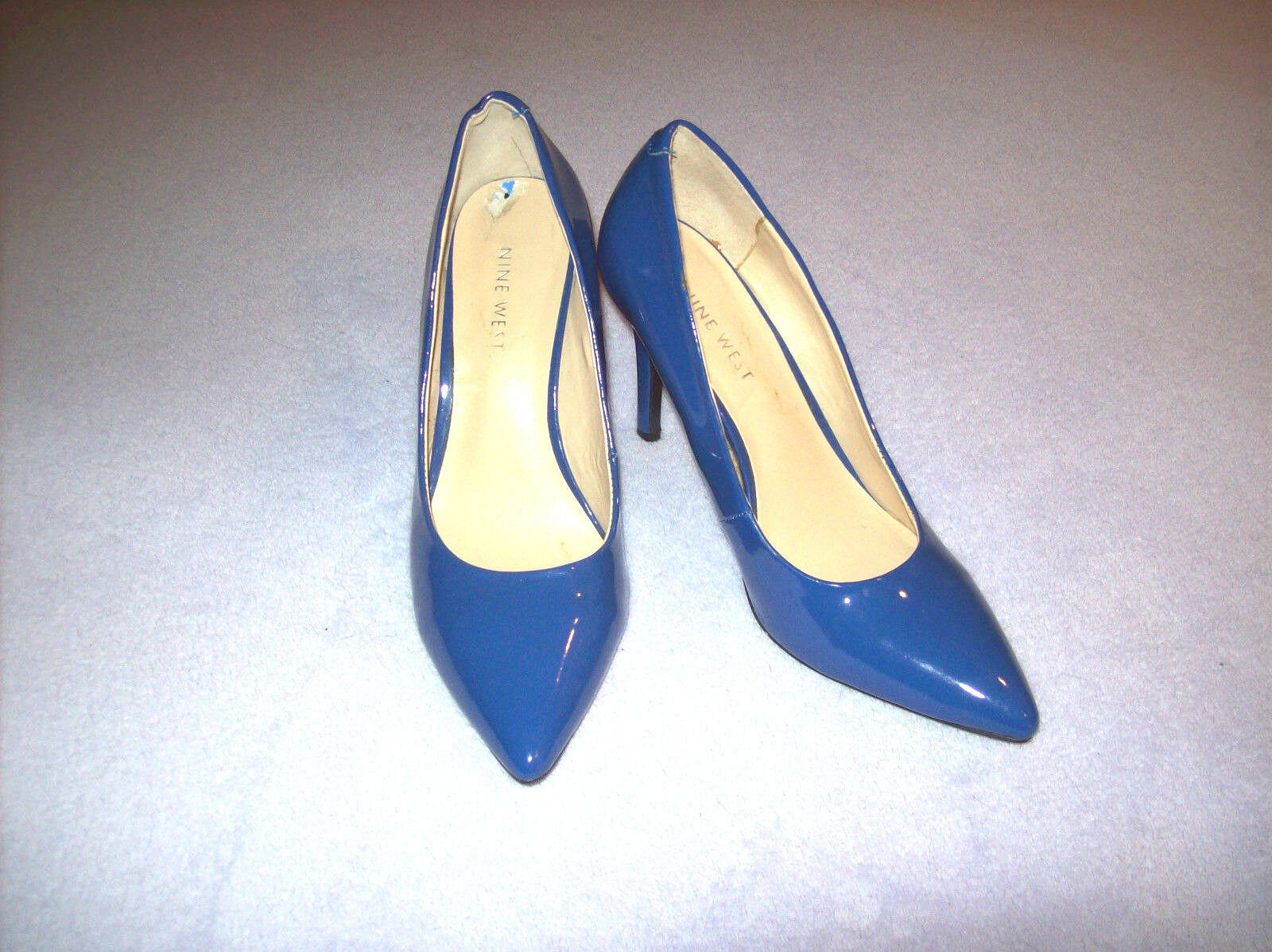 ordina ora con grande sconto e consegna gratuita LADIES NEW ROYAL blu PATENT LEATHER DRESS PUMPS BY    NINE WEST Dimensione 6 1 2 MEDIUM  contatore genuino