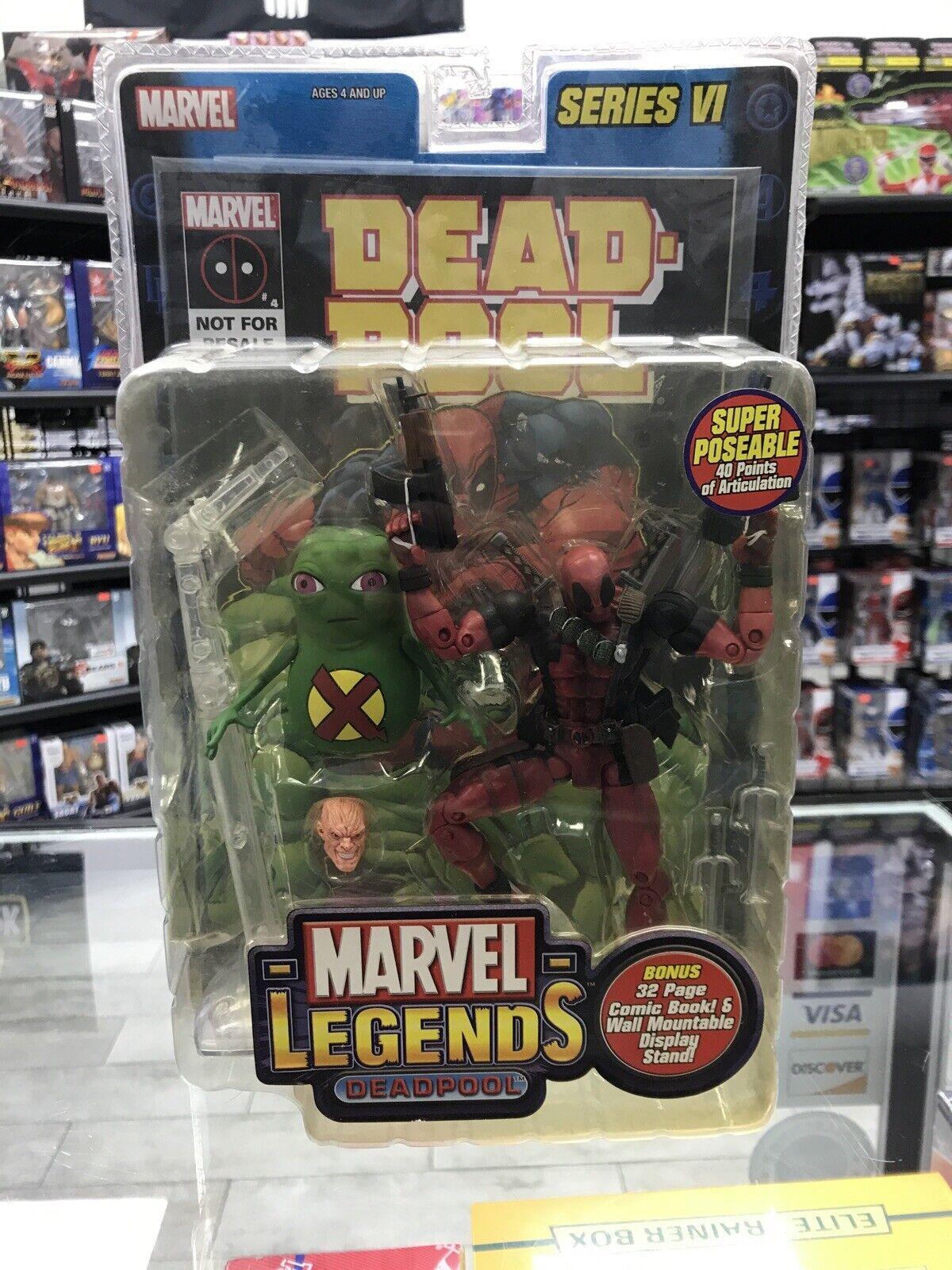 "Toy Biz Marvel Legends Series VI Deadpool /& Dool 6/"" Action Figure Loose Rare"