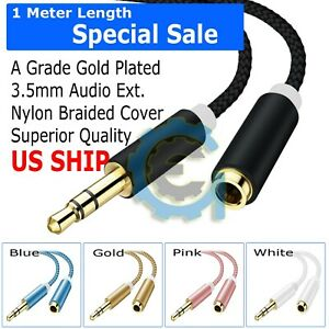 3-5mm-Audio-Extension-Cable-Stereo-Headphone-Cord-Male-to-Female-Car-SUV-AUX-MP3