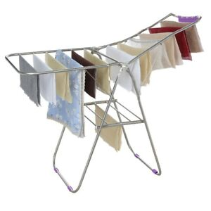 Details About Clothes Drying Rack Laundry Stand Folding Hanger Indoor  Portable Dryer Storage