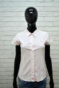 Camicia-Donna-TOMMY-HILFIGER-Taglia-XS-Maglia-Manica-Corta-Shirt-Woman-Elastica