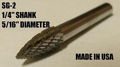 "SG5D Tree Shape Tungsten Carbide Burr Bur Cutting Tool Die Grinder Bit 1//4/"""