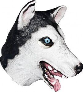 Full Husky Mask Wolf Dog Latex Face Mask Halloween Adult Unisex ... e8013abc0