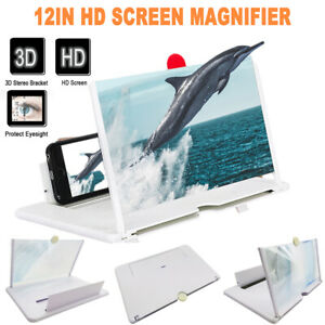 """3D HD Folding Smartphone Screen Magnifier Video Mobile Phone Amplifier Stand 12"""""""