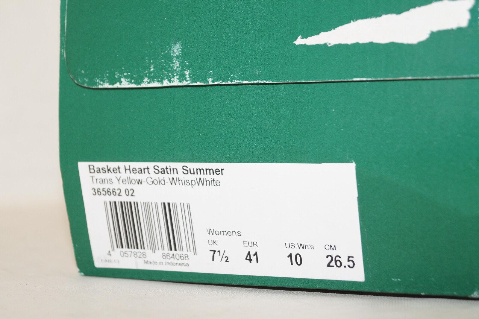 PUMA Basket Heart Satin Summer weiss EU 41 UK 7.5 gelb gold weiss Summer 365662-02 Damen WMNS 47852e