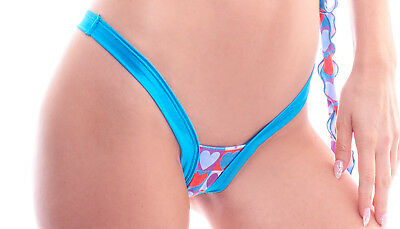 Made in USA. OS BodyZone Apparel Love Hearts Print Perfect Thong Panty