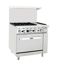 Atosa Cookrite Ato 4b12g 36 Inch 4 Burner Heavy Duty Gas Range With 12 In Griddle