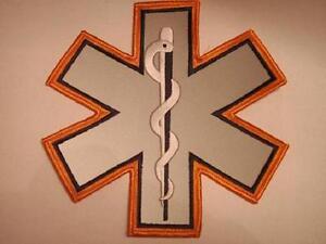 EMS-EMT-Emergency-Medical-Star-of-Life-Orange-Reflective-Patch-7-034