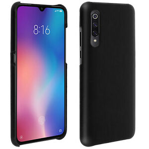 Xiaomi-Mi-9-Protection-Case-Resistan-Faux-Leather-Vintage-Black