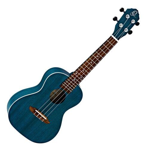 Wunderschöne Ortega Konzert Ukulele aus Okoume in blau Ideal für unterwegs!