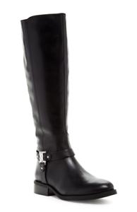 Vince Camuto Farren Women's Black Leather Riding Boot Sz 8 3071 *
