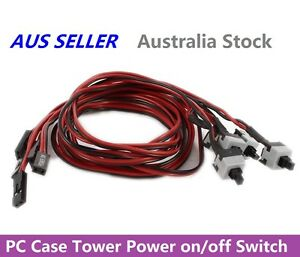 PC-Case-Motherboard-Power-on-off-or-Reset-Replacement-Switch-Button-Cable-50cm