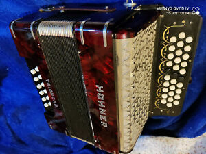 Hohner Trichord Accordion Melodeon Diatonic in B C Cis in Reading