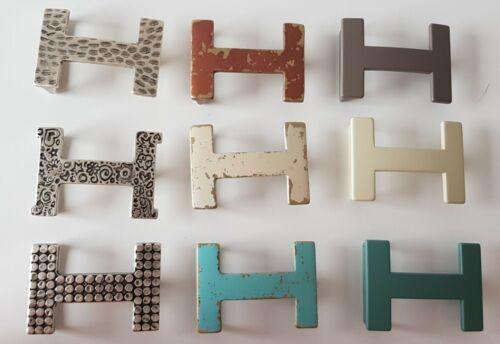 ♥ umjuBELT H-Level BRONZE matt used look Gürtelschnalle Schließe 7x5cm