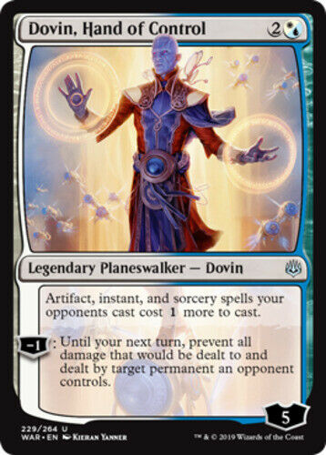 English x4 Dovin Hand of Control MTG War of the Spark U M//NM