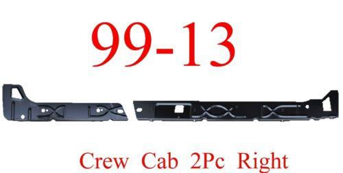 99 15 Right Crew Cab Inner Rocker Panel 2Pc Chevy GMC Truck Silverado Sierra