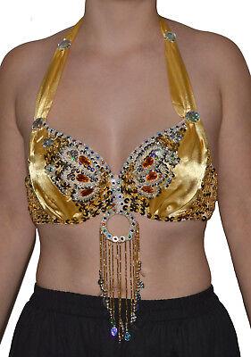 Danza Del Ventre Costume Belly Dance Reggiseno Top Samba Danza Carnevale Tribal Oriental-