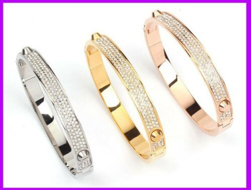 Love Bracelet Bangles Rivet Titanium & Stainless Steel 18K Gold For Women New