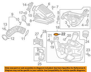 honda oem 06 07 accord air cleaner intake resonator seal 17256raaa10 rh ebay com  2003 honda accord intake manifold diagram