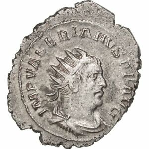Ric #282 3.06 Fashionable Patterns Friendly #38708 Valerian I Billon Antoninianus Antioch 55-58 Au