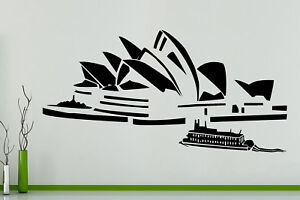 Sydney-Opera-House-Australia-Harbour-Pared-Arte-Calcomania-Adhesivo-Cartel-de-imagen