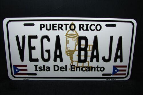 PUERTO RICO VEGA BAJA ISLA DEL ENCANTO METAL NOVELTY LICENSE PLATE FOR CARS