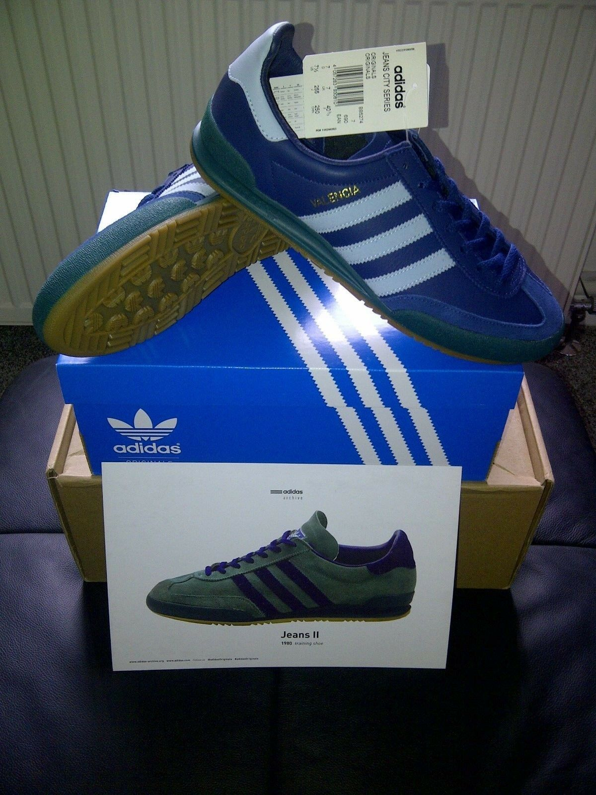 Deadstock..Adidas Jeans   Valencia  originals... trainers size 7 uk.. eur 40 2 3