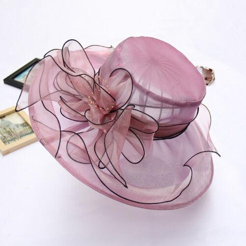 Women/'s Fascinators Kentucky Derby Church Dress Wedding Floral Tea Party Sun Hat
