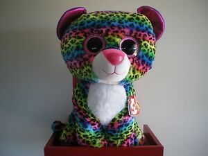 4624596e80f Ty Beanie Boos DOTTY the leopard 17 inch NWMT.LARGE 40cm.FREE POST ...