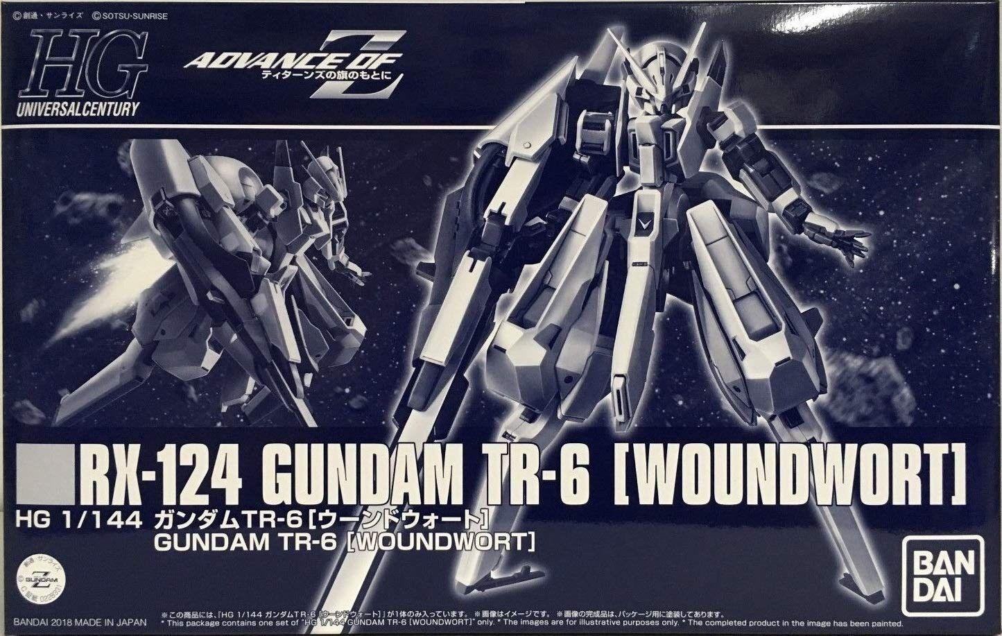 Bandai Hguc 1 144 Rx-124 Gundam Tr-6 Woundwort Kit de Modelismo A. O. Z Nuevo