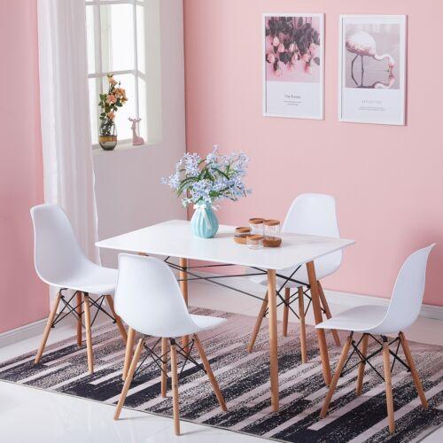 Esstisch mit 4 Stühlen 110x70cm Küchentisch Esszimmertisch MDF Essgruppe 5-tlg.
